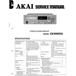 Akai CD3000XL Service Manual CD3000-XL CD-3000XL