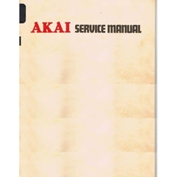 Akai GX-706D Stereo Cassette Service Manual